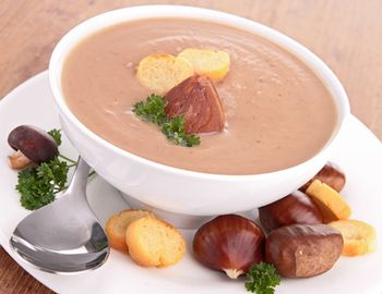 Soupe aux marrons entr e facile et rapide carnivor for Entree facile et rapide