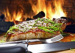 Plat : Côte de boeuf sauce onctueuse aux herbes